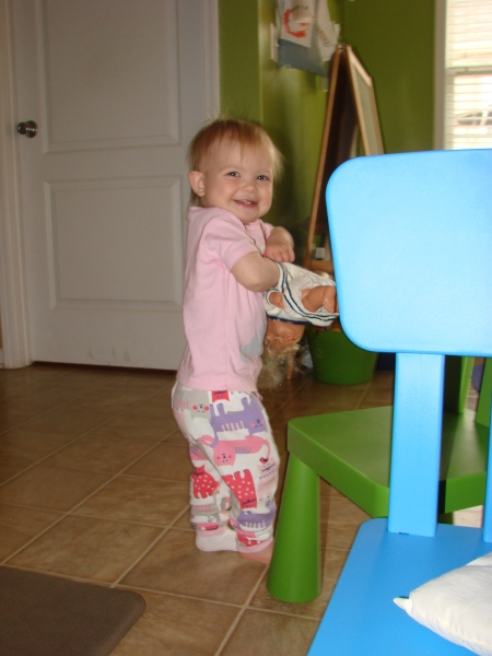 My daughter playing with the dolls i had as a little girl.. makes my heart giddy!