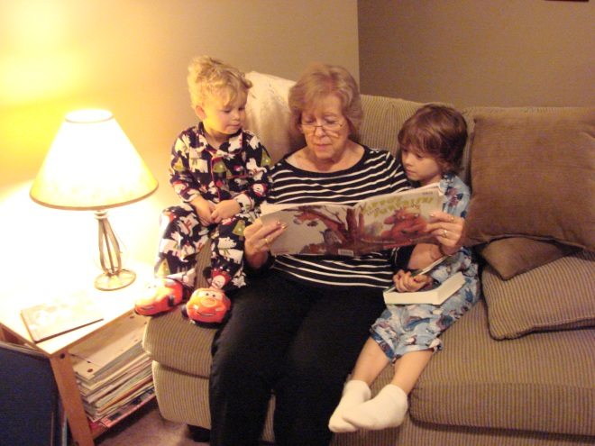 Grandma reading night time stories!