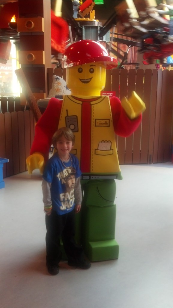 Brother meeting Lego Man