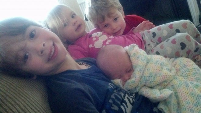 the four amazing blessing that call me mom!