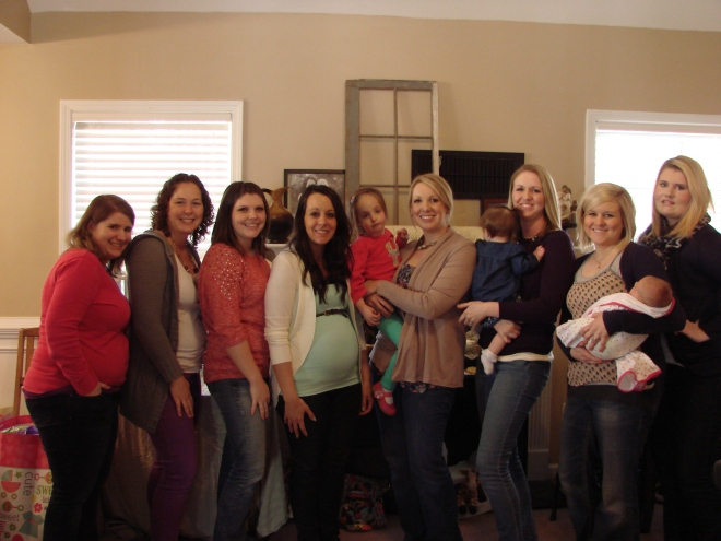 Mom-to-be with her small group!