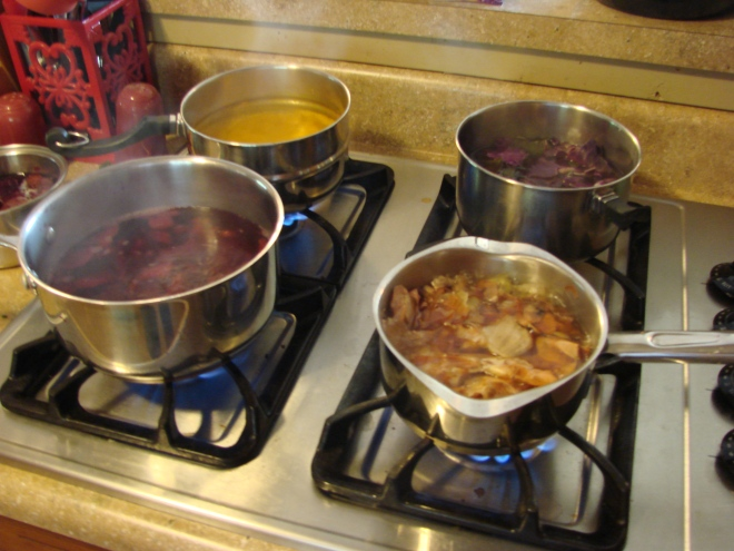 Then onto the stove to boil..