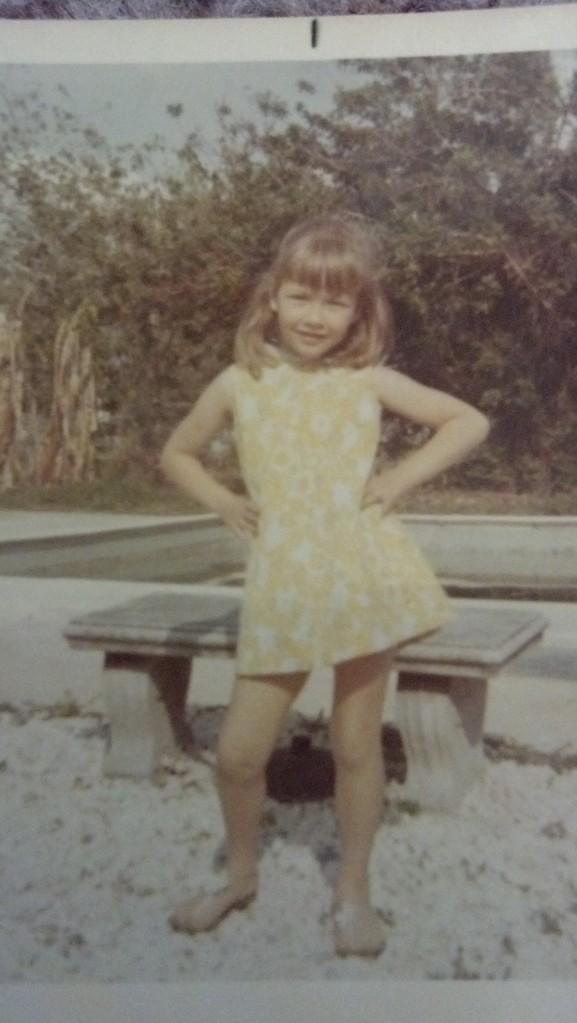 my mom in 1971  6.5 years old