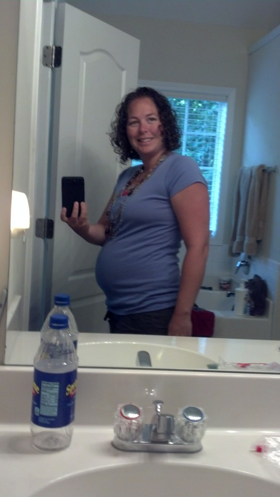 first pic with #5.. not sure how far along.. find out tomorrow (I'm guessing 13 weeks)