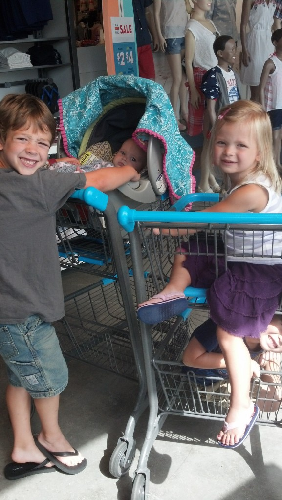 trip to old navy..**i asked why they dont have regular carts.. response was for the modern stores they don't see a need.. OH COME ON PEOPLE!