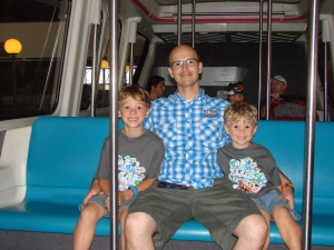 riding the monorail