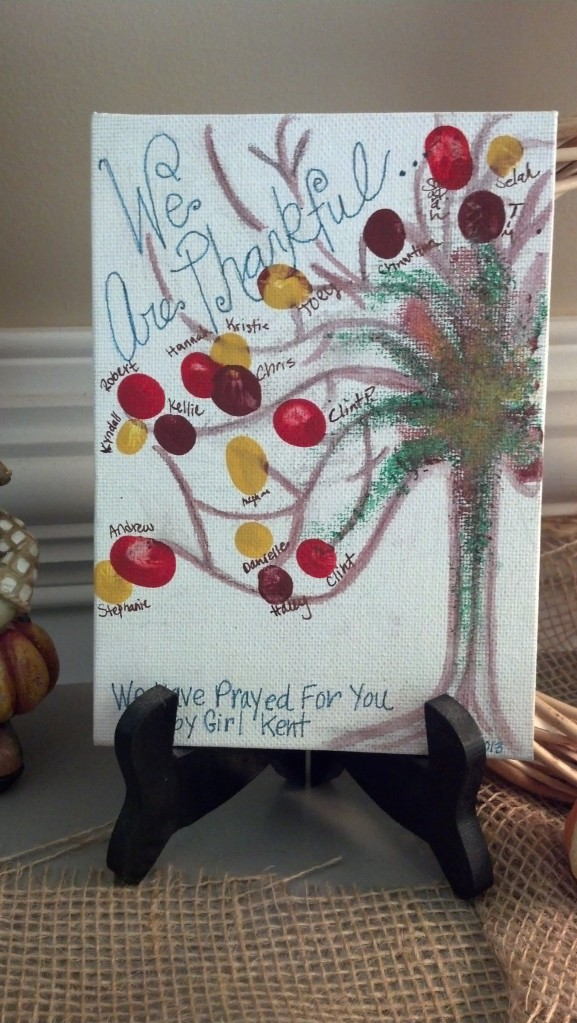 Last year we were pregnant with Lydia and my small group did this for us at our shower!