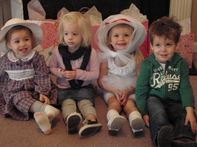 all her sweet friends, minus one who wanted to sit with mommy and one who was sick:(