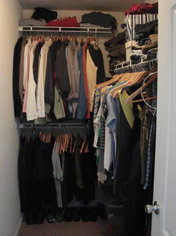 Master closet...